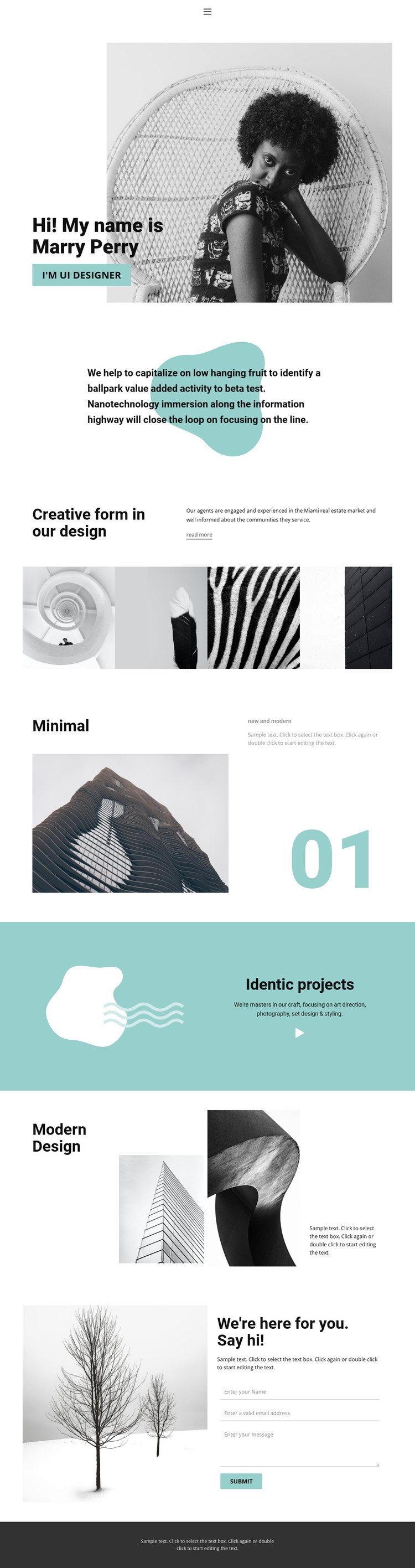 Web design from our studio One Page Template