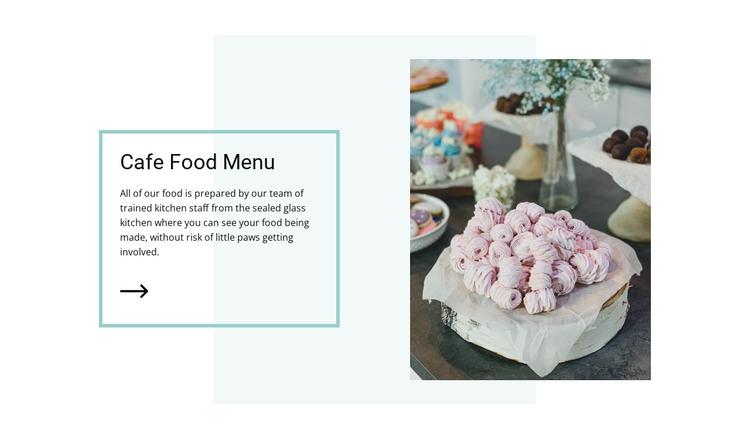 Vegan cafe menu HTML Template