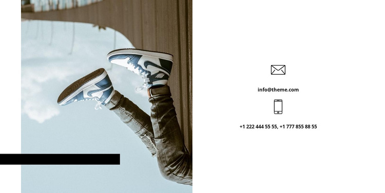 You can contact us HTML5 Template