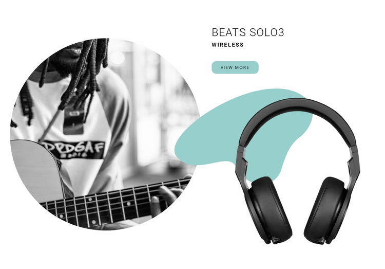 Best wireless headphones WordPress Website Builder