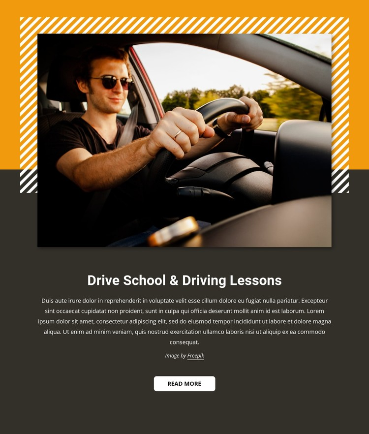 Car driving lessons CSS Template