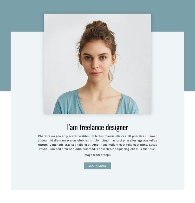 I'am freelance designer  Html Code Example