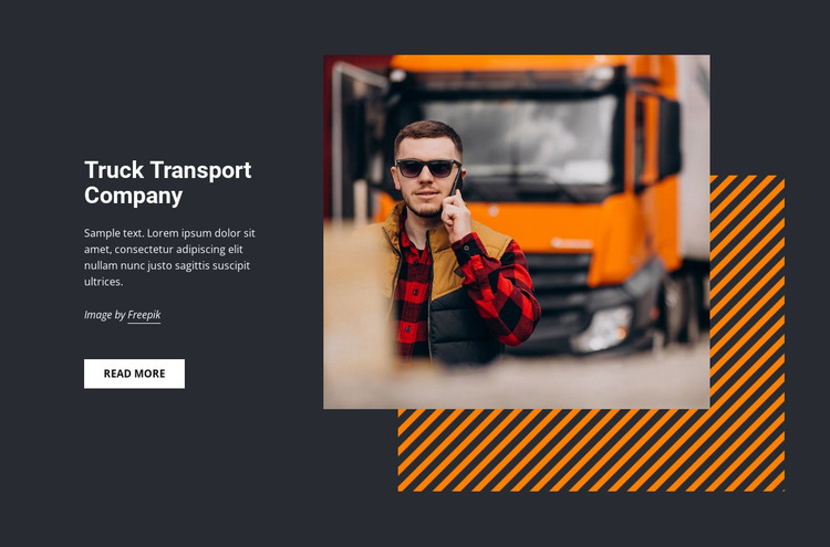 Truck transport services HTML Template
