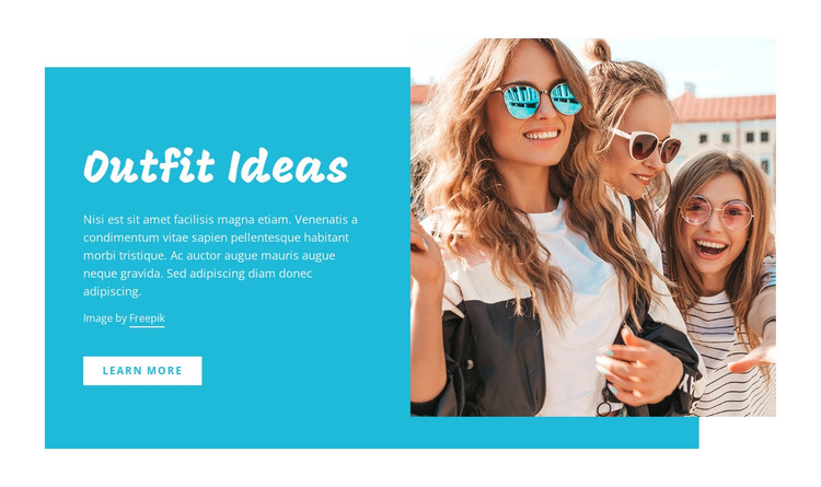 Outfit ideas, fashion tips HTML Template
