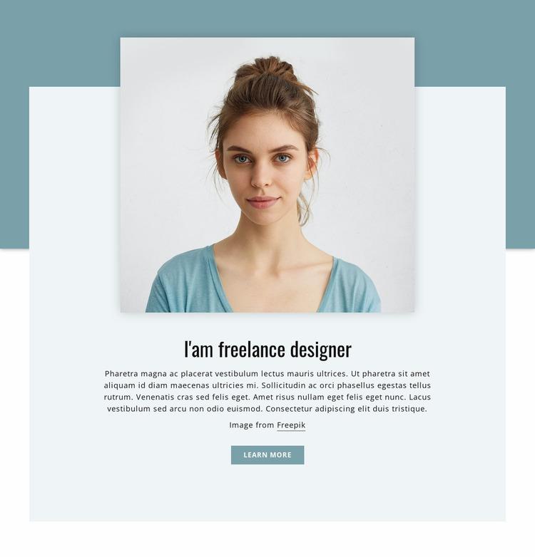 I'am freelance designer  Html Website Builder