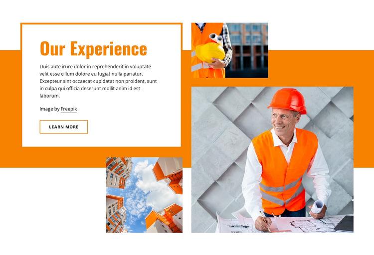 Civil building construction HTML5 Template