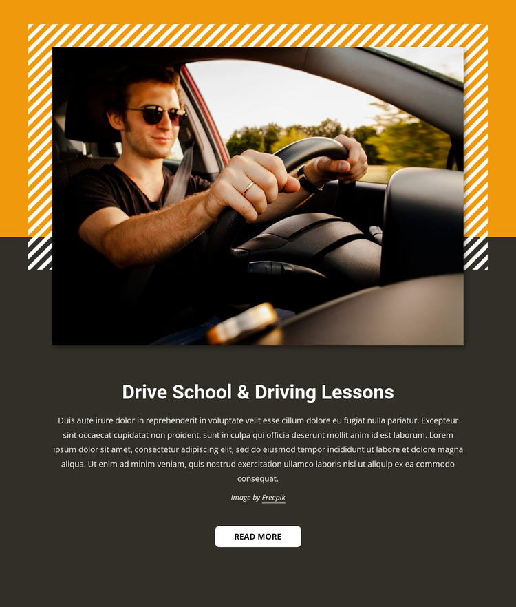 Car driving lessons Joomla Page Builder