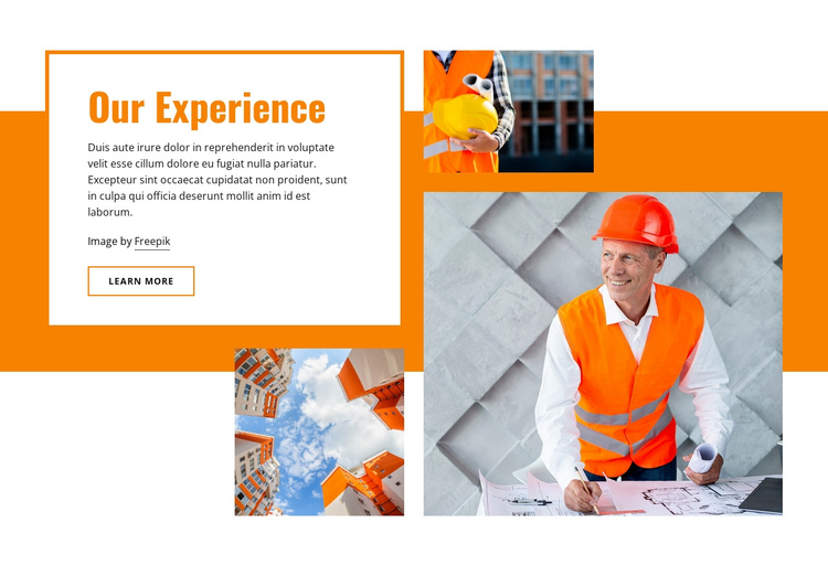 Civil building construction One Page Template