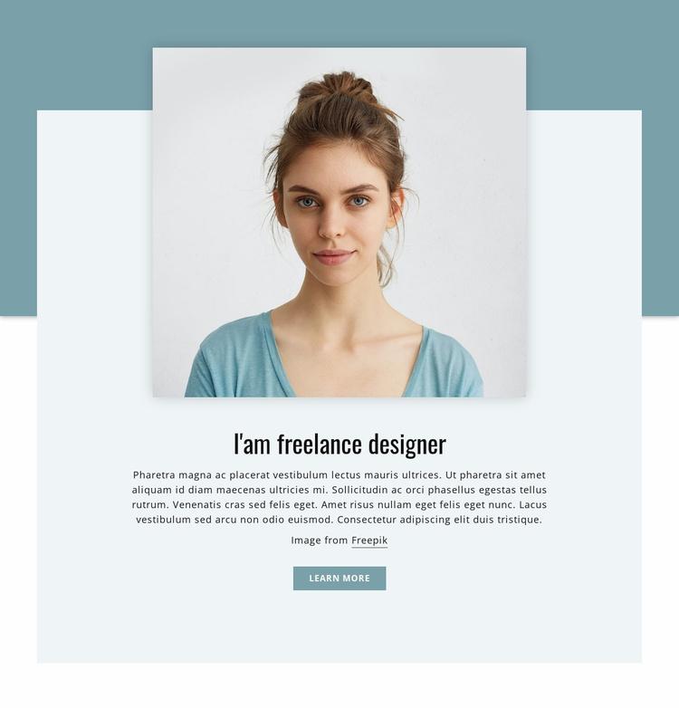 I'am freelance designer  Website Template