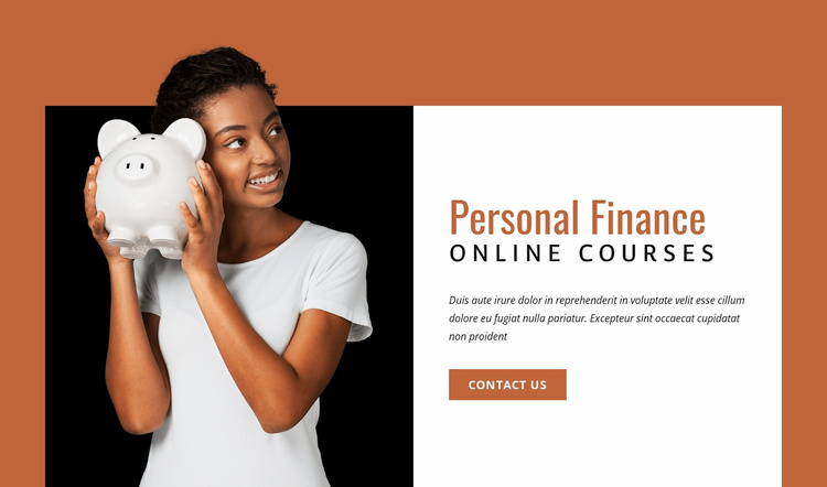 Personal finance сourses Website Template