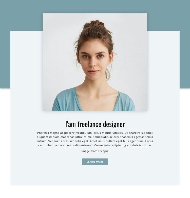 I'am freelance designer  WordPress Theme