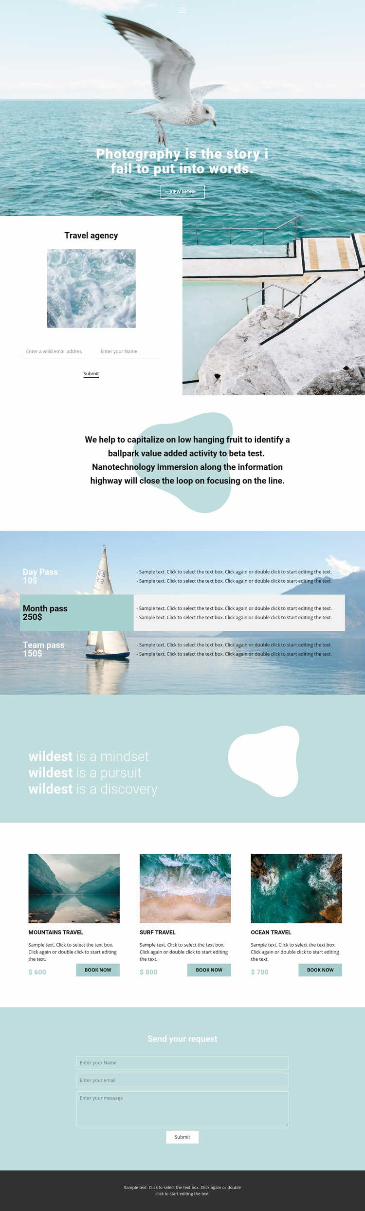 Travel and photo Web Page Designer