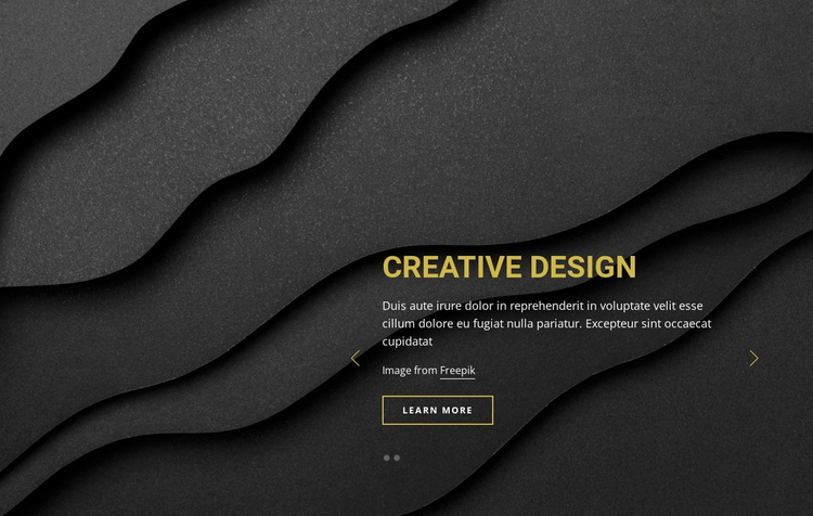 Area of graphic design Landing Page