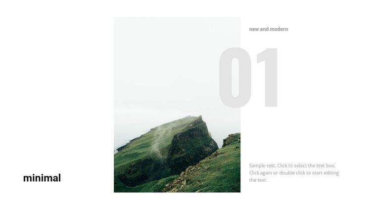 Beautiful mountain landscape Website Builder