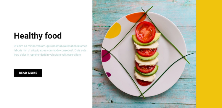 Healthy food cafe Website Builder Software
