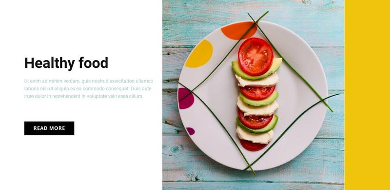 Healthy food cafe Website Creator