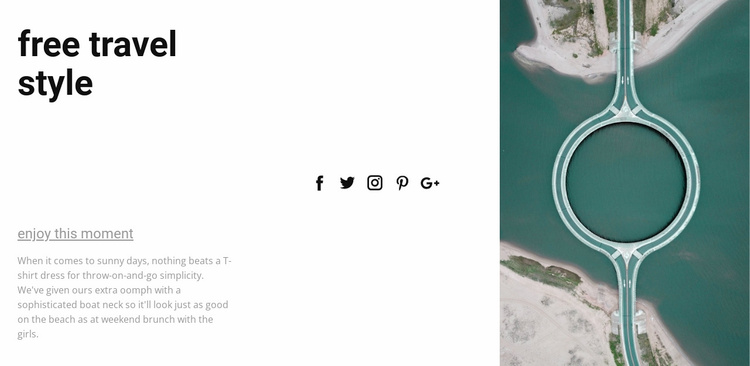 Free travel style Website Template