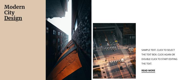 Modern city design HTML5 Template