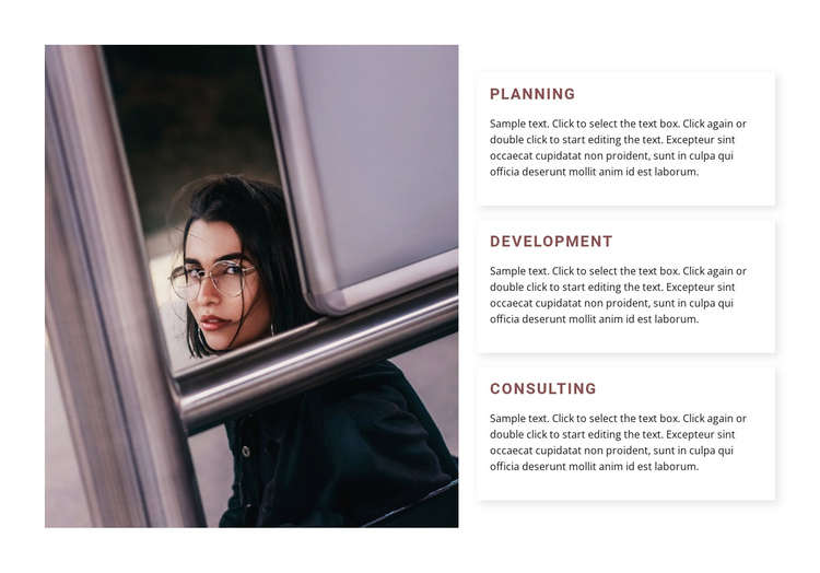 Planning and development One Page Template