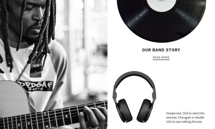 Music brand story  One Page Template