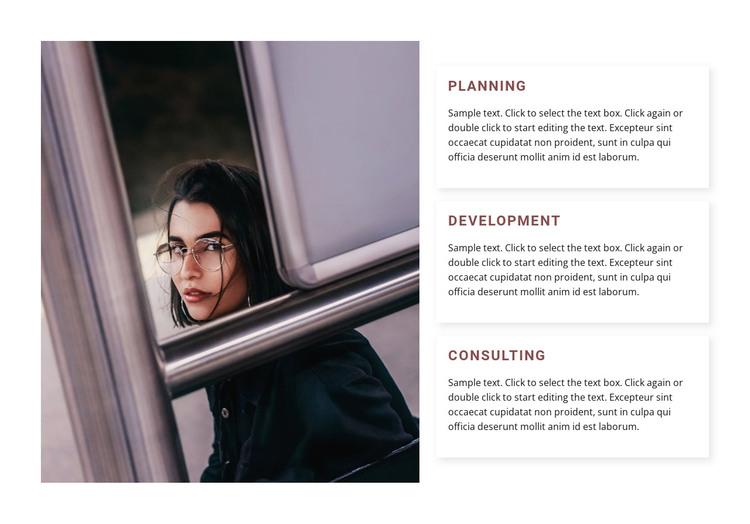 Planning and development Web Design