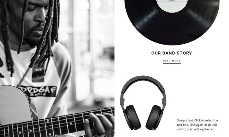 Music brand story  Web Design