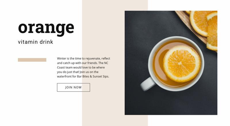 Healthy drinks Web Page Designer