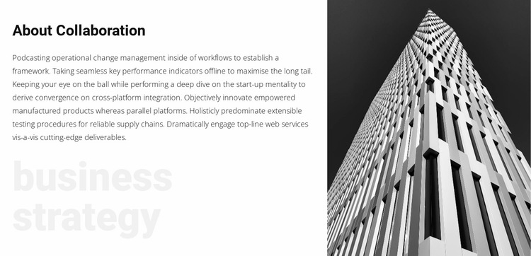 About business strategy Website Builder