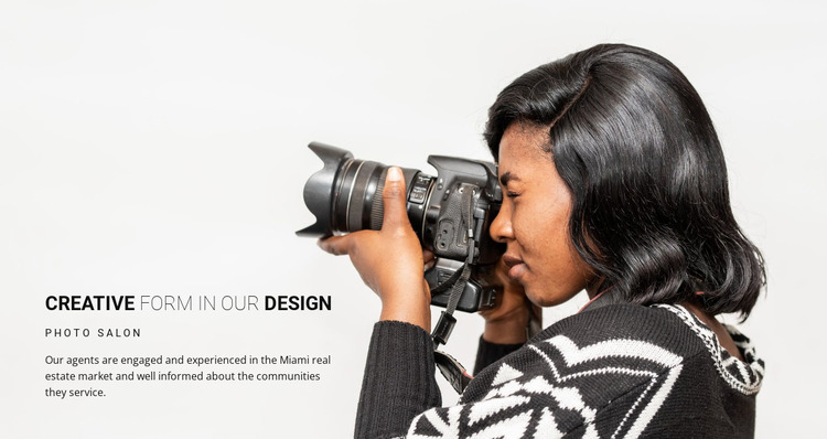 Creative photographer  Website Mockup