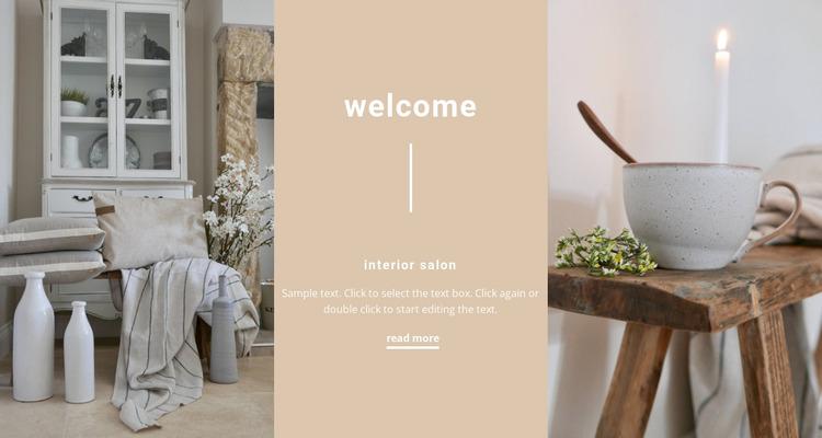 Elegant interior details Website Mockup