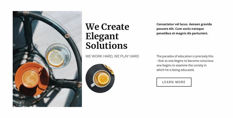 Create elegant restaurant Website Template