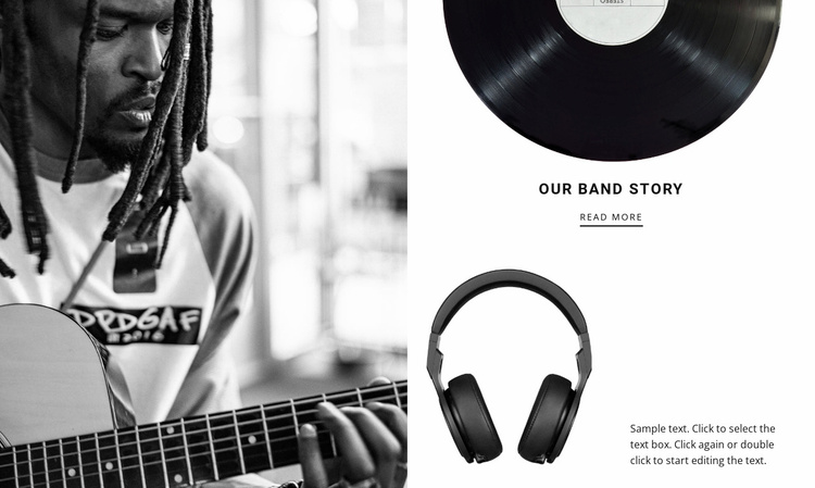 Music brand story  Landing Page