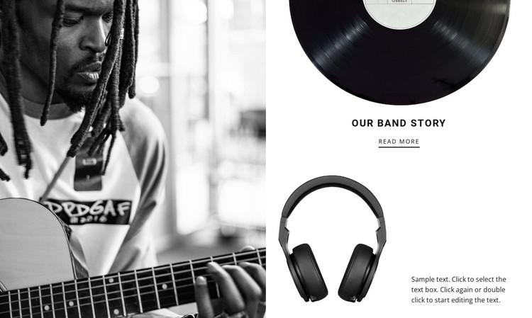 Music brand story  WordPress Template