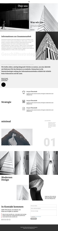 Moderne Baufirma Website-Vorlage
