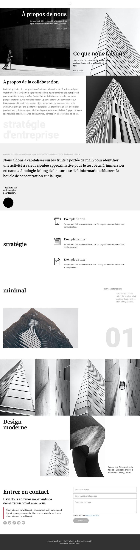 Entreprise de construction moderne Modèle de site Web