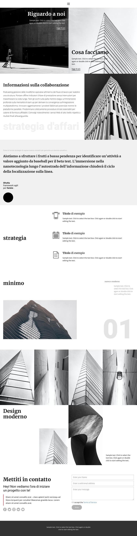 Impresa edile moderna Modello di sito Web