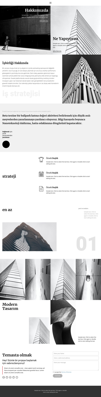 Modern inşaat şirketi Web Sitesi Şablonu