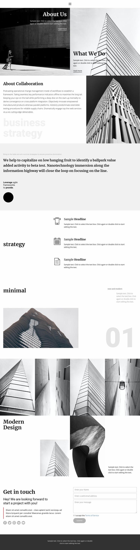Modern building company Web Page Design