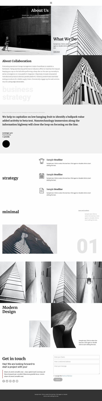Modern building company Website Mockup