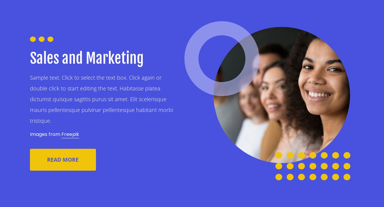 Sales and marketing Landing Page