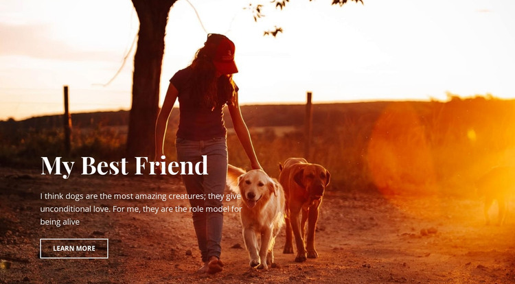 Our best friends HTML Template