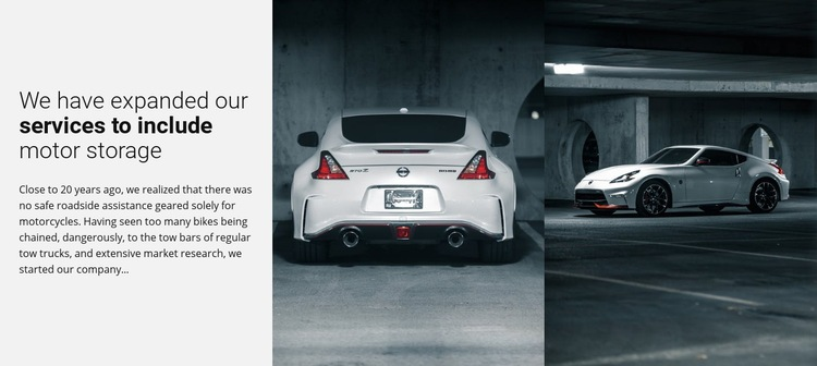 Sport cars services Html Code Example