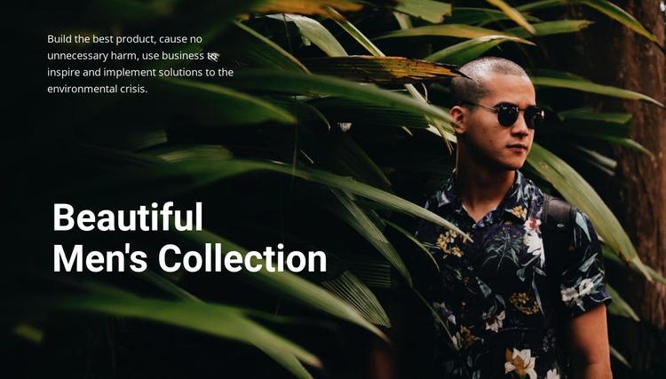 Beautiful men's collection Html Website Builder
