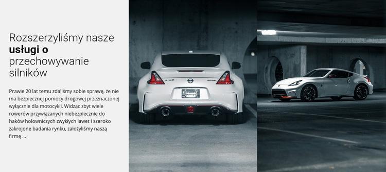 Serwis samochodów sportowych Szablon witryny sieci Web