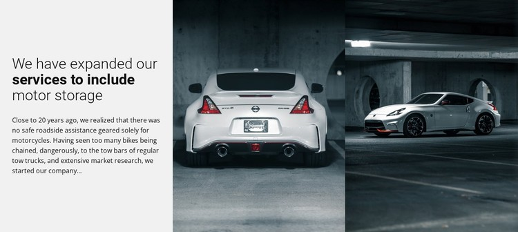 Sport cars services Static Site Generator
