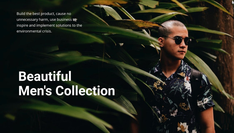 Beautiful men's collection Website Mockup