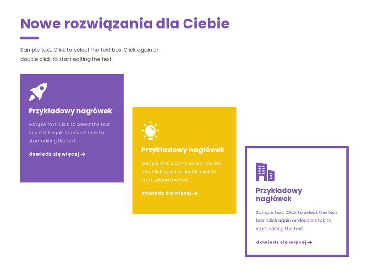 Kreatywne strategie biznesowe Szablon witryny sieci Web