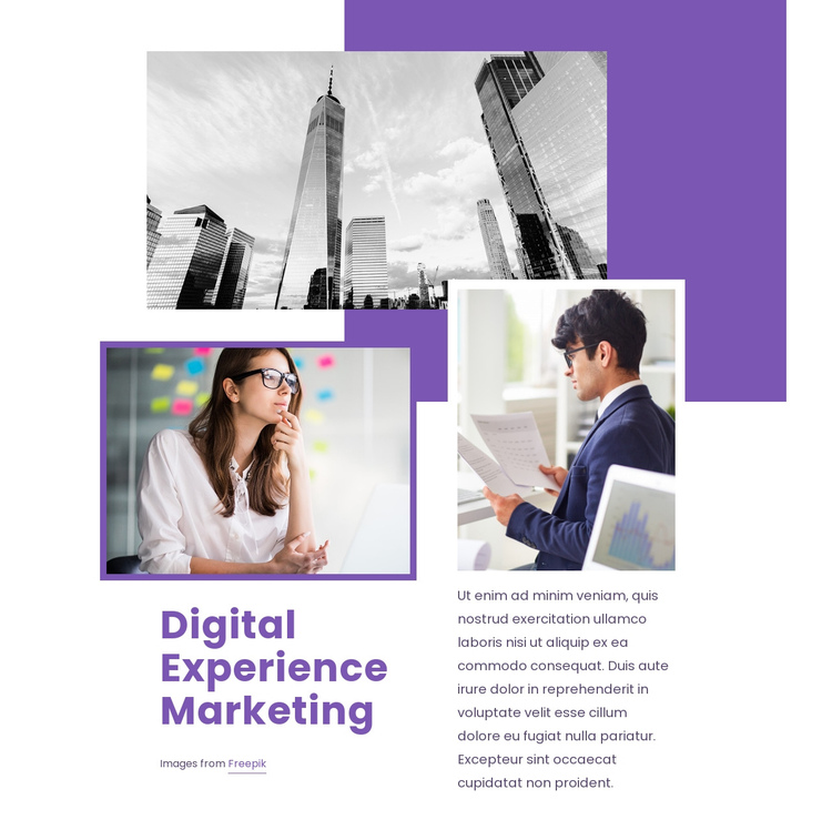 Digital experience marketing One Page Template