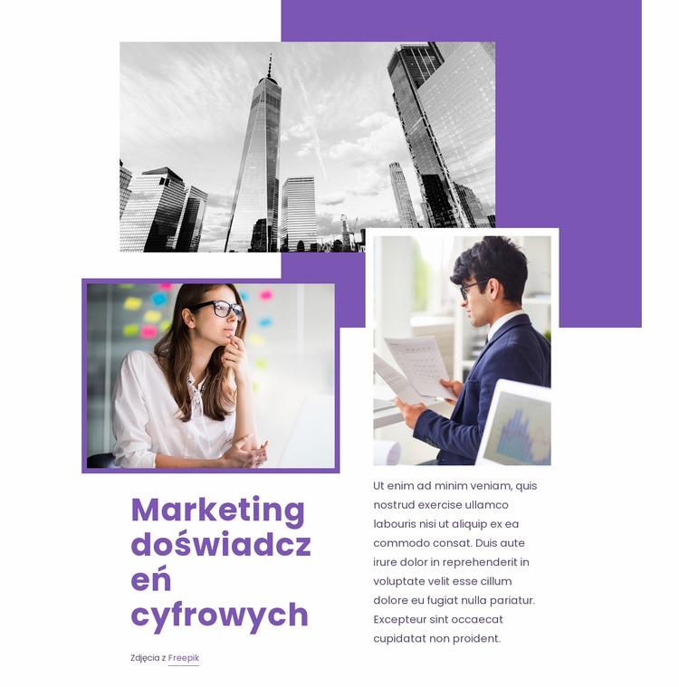 Marketing doświadczeń cyfrowych Szablon Joomla