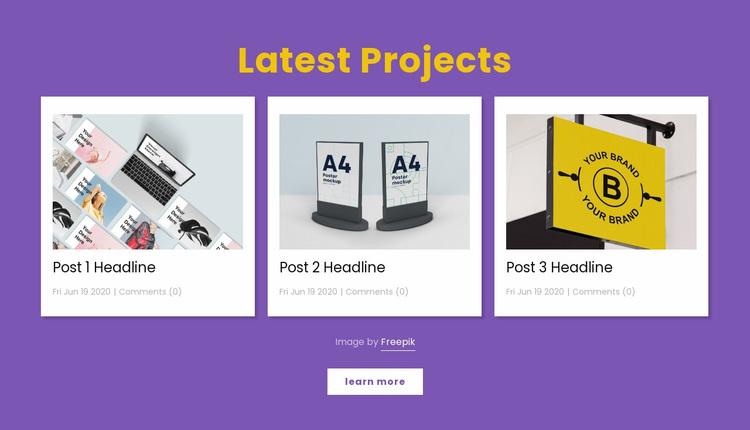 Latest design projects Website Design